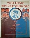 Sheet Music - WHEN YOU�RE WEARING A SMILE.