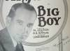 Click to view larger image of Sheet Music - AL JOLSON in BIG BOY. (Image2)