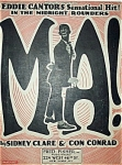 Sheet Music � MA! � Eddie Cantor.