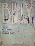 Click to view larger image of Sheet Music – BILLY.  C.1911. (Image1)