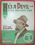 Sheet Music � HE�S A DEVIL. (IRVING BERLIN).