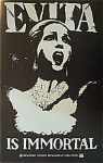 Click here to enlarge image and see more about item 4698: Vintage Poster - EVITA - BROADWAY 1979 -MINT.