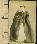 Click here to enlarge image and see more about item 4701: Cabinet Photo – Miniature of a doll.