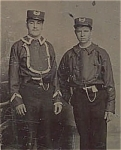 Click here to enlarge image and see more about item 4704: Tintype – Early firemen or street car conductors?
