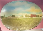 Antique Photograph – Lg oval photo of Farm – hand-tint.