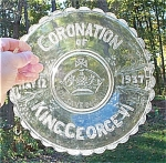 1937 GEORGE VI Glass Coronation Plate.