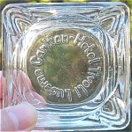 1960 Carlton-Hotel Tivoli, Lucerne glass ashtray
