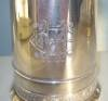 Click to view larger image of Antique Silver Plated Mug � Gorgeous Handle & Initials (Image6)