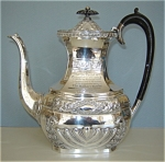 Click here to enlarge image and see more about item 4771: Antique Silver Plated Presentation Teapot – Wonderful.