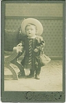 Click here to enlarge image and see more about item 4778: Carte De Visite � The amazing standing baby.