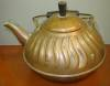 Click to view larger image of Vintage Copper Tea Kettle with Wavy Embossed Design (Image3)