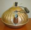 Click to view larger image of Vintage Copper Tea Kettle with Wavy Embossed Design (Image5)