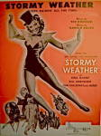 Click here to enlarge image and see more about item 4800: Vintage Sheet Music �Stormy Weather� Horne & Calloway