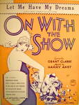 Vintage Sheet Music 1929 ON WITH THE SHOW
