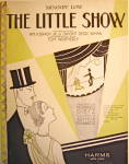 """Click here to enlarge image and see more about item 4805: Vintage Sheet Music """"Moanin' Low… THE LITTLE SHOW"""""""
