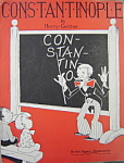 Sheet music: CONSTANTINOPLE – 1928.