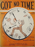 Sheet music: GOT NO TIME - 1925.