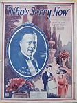 Sheet music: WHO�S SORRY NOW - 1923.