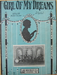 Sheet music: GIRL OF MY DREAMS - 1927.