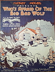 Click to view larger image of Sheet Music: Who�s Afraid of the Big Bad Wolf. (Image1)