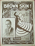 Click here to enlarge image and see more about item 5125: Sheet music: BROWN SKIN – 1916.
