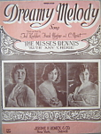 Sheet music: DREAMY MELODY – 1922.