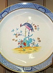 Click here to enlarge image and see more about item 7226: Cauldon Bird Plates - Antique C.1900 � Gold Rim.