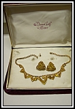 Kramer Diamond Look Rhinestone Necklace Set