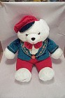 2007 Christmas Snowflake Teddy Boy  Plush Teddy Bear
