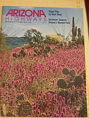 Arizona Highways, Volume 65, No. 3, March 1989 (Image1)