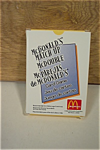 Mcdonald's Match Up Card Game