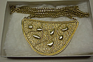 Abstract Design Gold Plated Necklace (Image1)