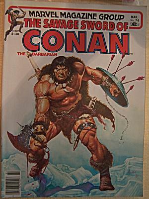 The Savage Sword Of Conan The Barbarian, Vol. 1, No. 74 (Image1)