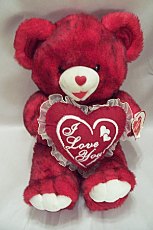 Dan Dee 2002 Valentine Red Plush Teddy Bear