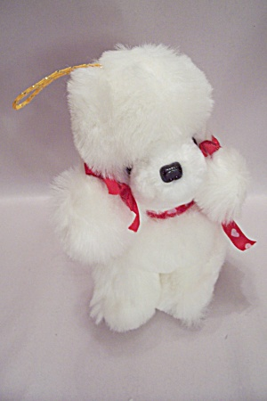 White Plush Stuffed Poodle