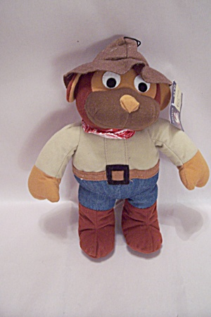 Stuffed Toy Western Denim Dog