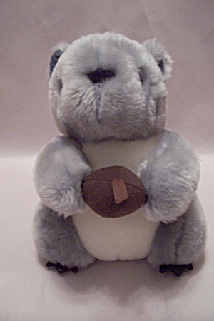 Plush Stuffed Gray Squirrel