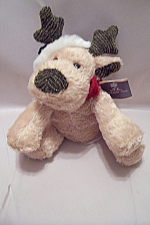 Light Tan Plush Stuffed Reindeer Dog