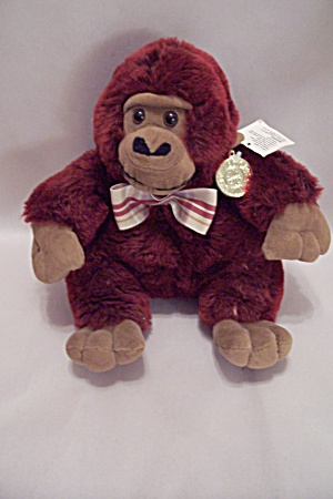 Maroon Plush Stuffed Dan Dee Collection Monkey