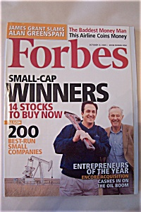 Forbes Magazine, Vol. 176, No. 9, October 31, 2005 (Image1)