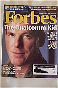 Forbes Magazine, Vol. 176, No. 11, November 28, 2005 (Image1)
