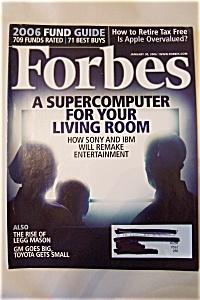 Forbes Magazine, Vol. 177, No. 2, January 30, 2006 (Image1)