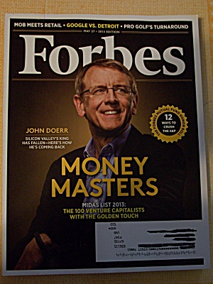 Forbes, Volume 191, No. 7, May 27, 2013 (Image1)