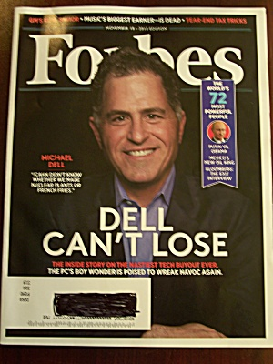 Forbes, Volume 192, No. 7 November 15, 2013