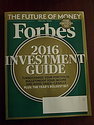 Forbes, Volume 196, No. 9,, December 28, 2015