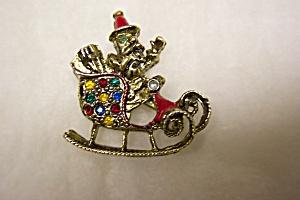 Santa's Sleigh Brooch/Pin (Image1)