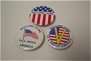 Gulf War Patriotic Pinback Pins (Image1)