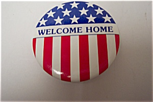 Gulf War Welcome Home Pinback Pin