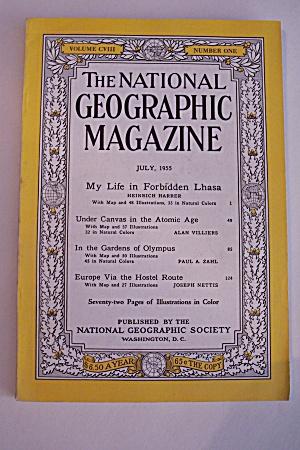 National Geographic, Vol. CVIII, No. 1, July 1955 (Image1)