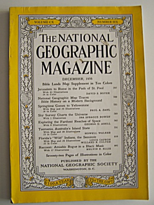 National Geographic, Vol. C X, No. 6, December 1956 (Image1)